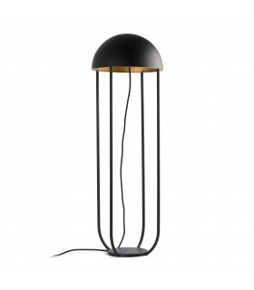 LED Floor Lamp Black, Gold