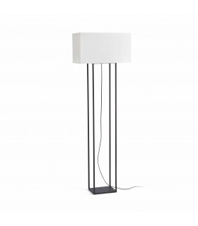 2 Light Floor Lamp Brown with Beige Shade, E27