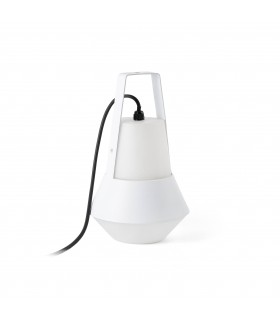 1 Light Outdoor Table Lamp White IP54
