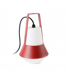 1 Light Outdoor Table Lamp White, Red IP54, E27