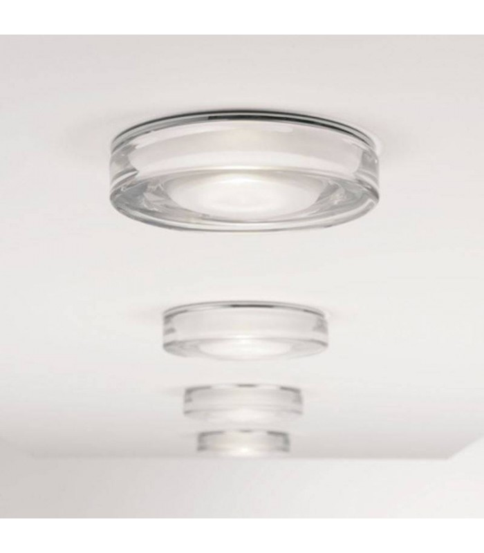 1 Light Bathroom Ceiling Downlight Polished Chrome IP65