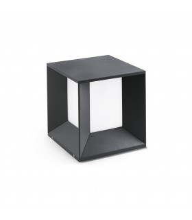 Dark Grey And White LED Outdoor Pedestal