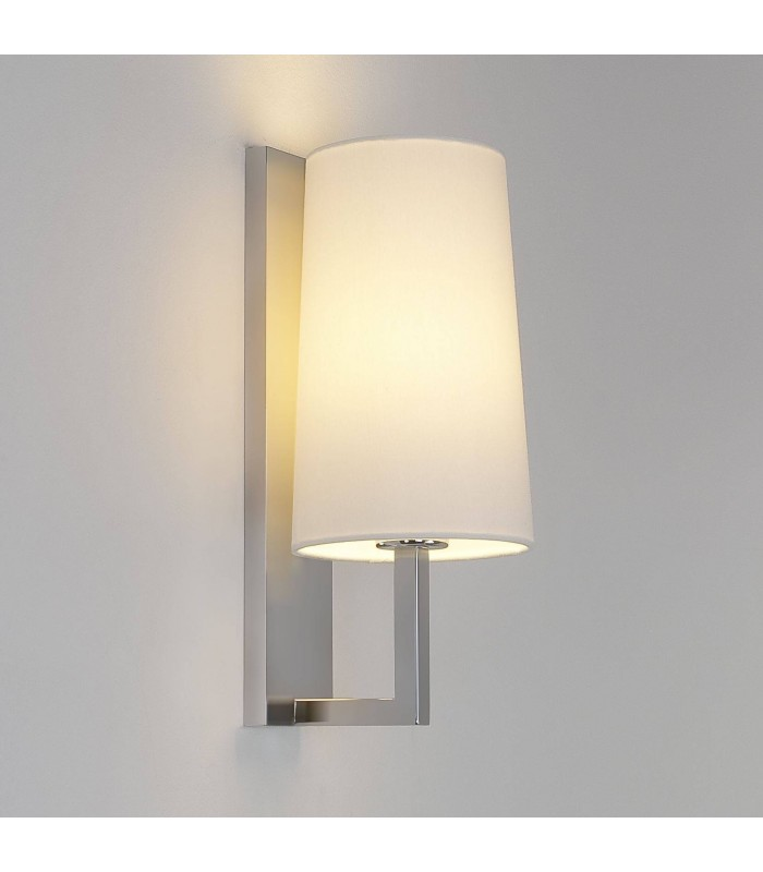 350mm Matt Nickel Bathroom Wall Light (Shade Not Included)