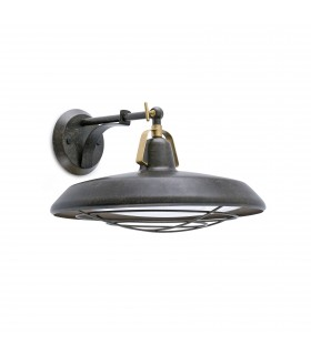 LED Indoor / Outdoor Dome Wall Light Antique Brown IP44