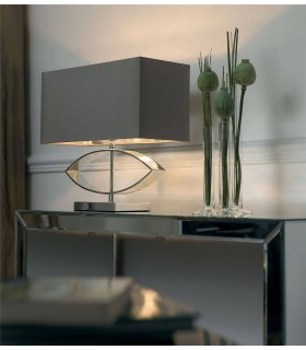 1 Light Table Lamp Metal with Shade