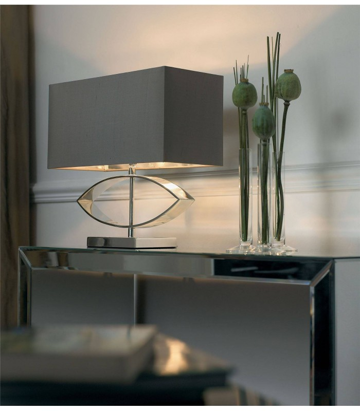 1 Light Table Lamp Metal with Shade, E27