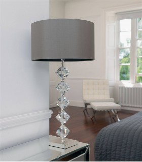 1 Light Table Lamp Crystal with Shade