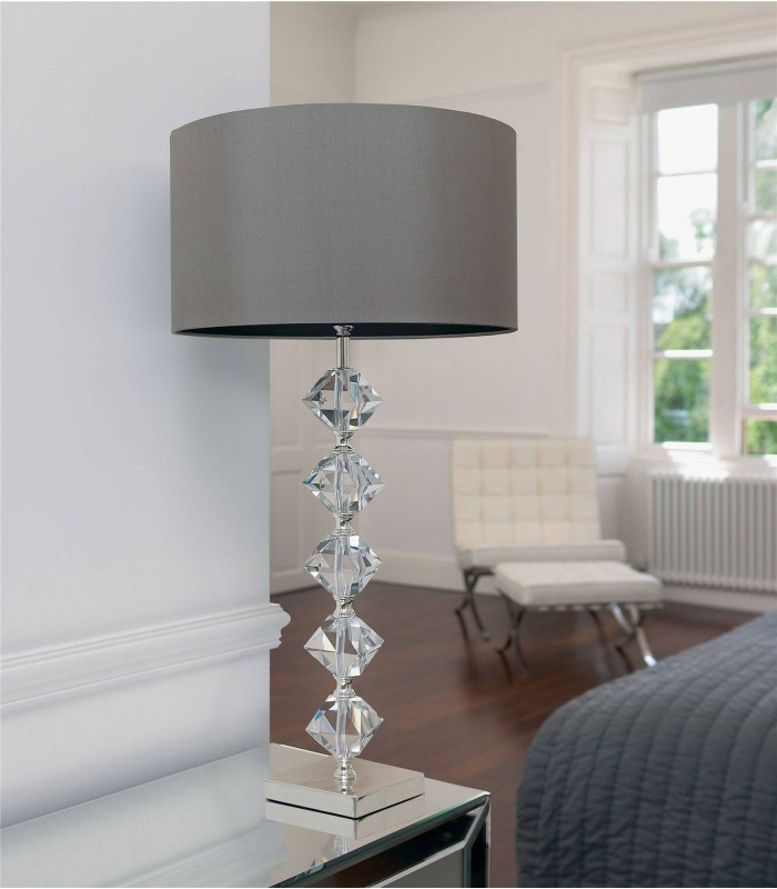 1 Light Table Lamp Crystal with Shade, B22