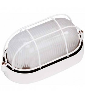 1 Light Outdoor Bulkheads White IP44, E27