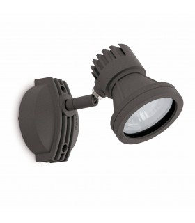 1 Light Outdoor Wall Spotlight Dark Grey IP65