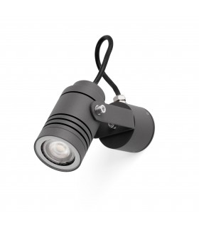1 Light Outdoor Wall Spotlight Dark Grey IP54