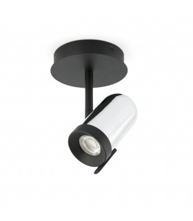 1 Light Spotlight Chrome, Black, GU10