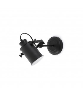 1 Light Indoor Adjustable Wall Spotlight Black, E27
