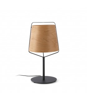 Black And Wood Table Lamp