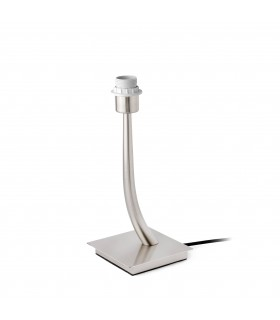 1 Light Table Lamp Satin Nickel - Shade Not Included, E27