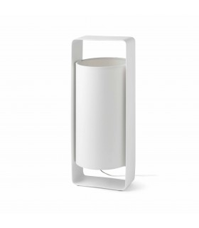 1 Light Large Table Lamp White with Shade, E27