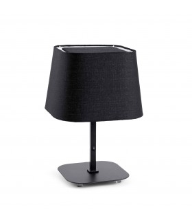 1 Light Table Lamp Black with Shade
