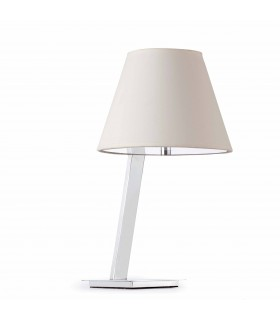 1 Light Table Lamp Chrome with White Shade