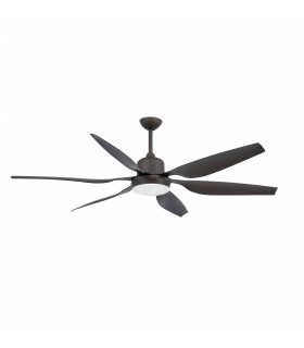 2 Light Large Ceiling Fan Dark Brown with Light, E27