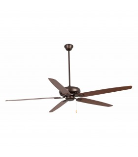 Dark Brown Extra Large Ceiling Fan Without Light