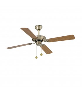 Faro - Yakarta Medium Antique Brass Ceiling Fan With/without Light FARO33711