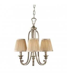 Multi Arm Chandelier 3 Light Silver Sand Finish