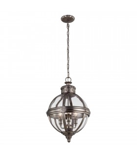 3 Light Ceiling Chandelier Pendant Light Antique Nickel
