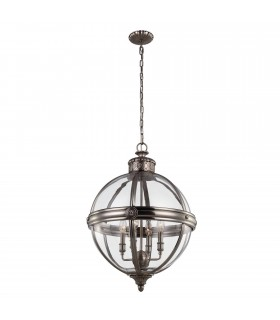 4 Light Ceiling Chandelier Pendant Light Antique Nickel