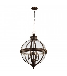 4 Light Ceiling Chandelier Pendant Light British Bronze