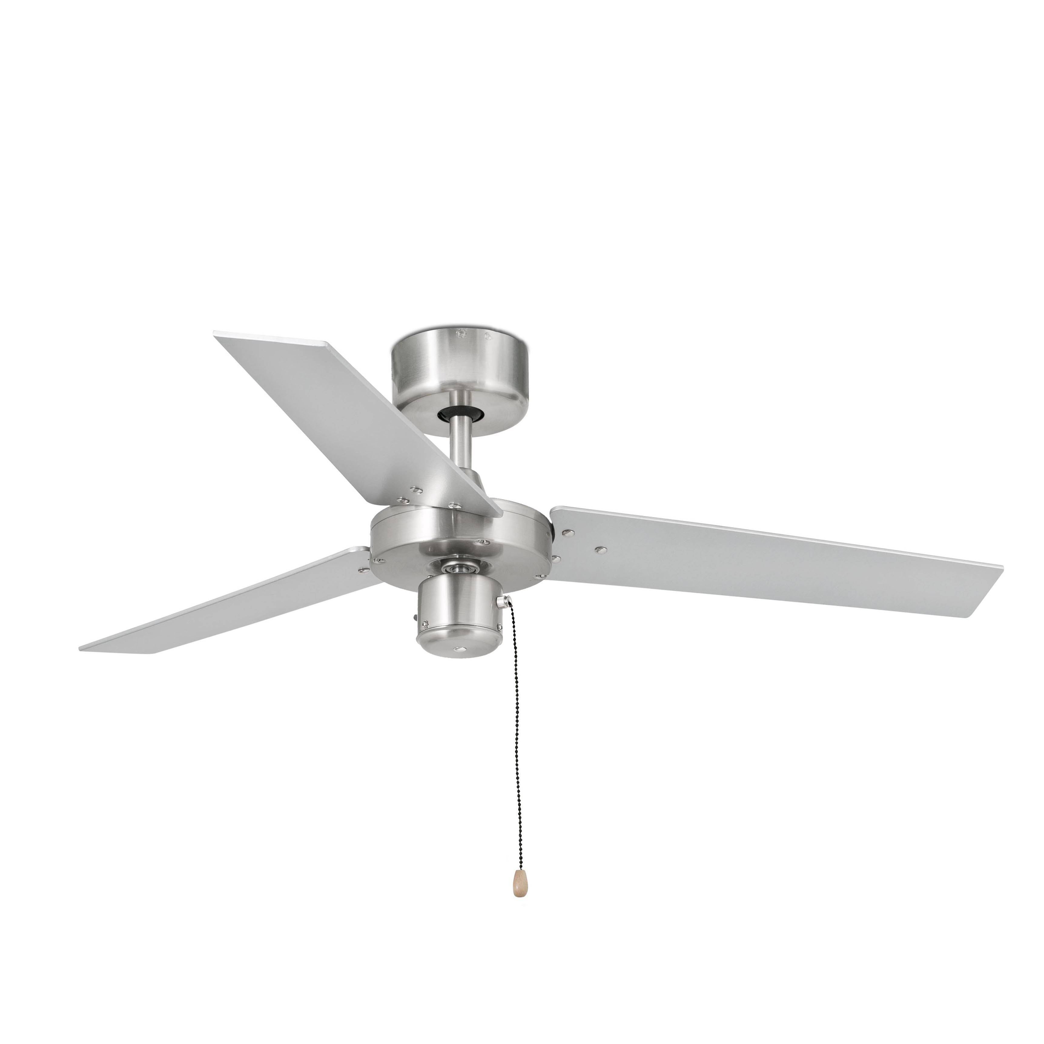 Small Aluminium Ceiling Fan Without Light Black Grey