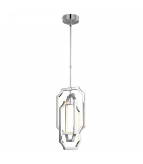 LED Medium Ceiling Pendant Light Polished Nickel