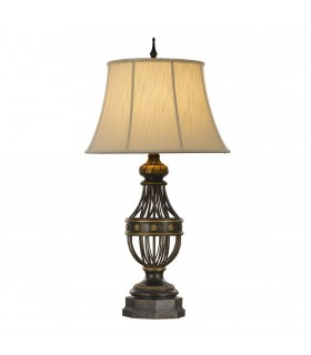 1 Light Table Lamp Antique Brown, E27