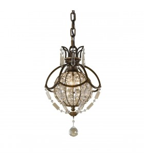 1 Light Ceiling Pendant British Bronze, Oxidized Bronze
