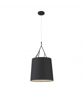 1 Light Ceiling Pendant Black with Shade