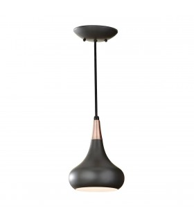 1 Light Dome Ceiling Pendant Dark Bronze, E27