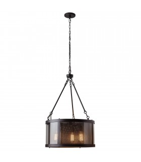 3 Light Ceiling Pendant Bronze, E27