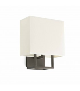 1 Light Indoor Wall Lamp Brown with Shade