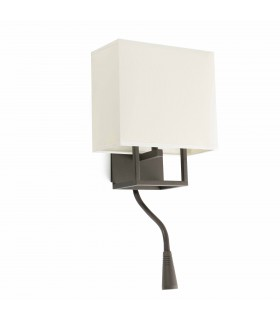 LED 1 Light Indoor Wall Light Reading Lamp Brown with Shade