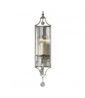 1 Light Indoor Candle Wall Light Silver, E14