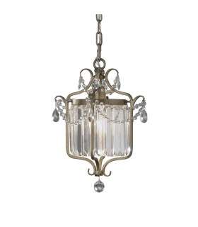 1 Light Ceiling Pendant Silver, E27