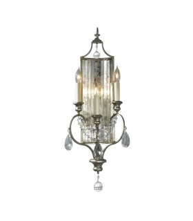 3 Light Indoor Candle Wall Light Silver, E14