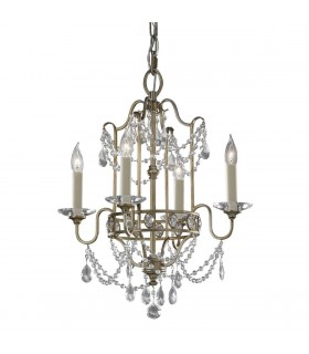 Chandelier 4 Light Silver Finish