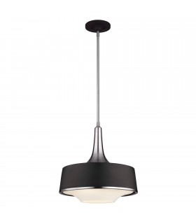 4 Light Dome Ceiling Pendant Black, Brushed Steel, E27