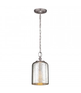 1 Light Ceiling Mini Pendant Brushed Steel, E27