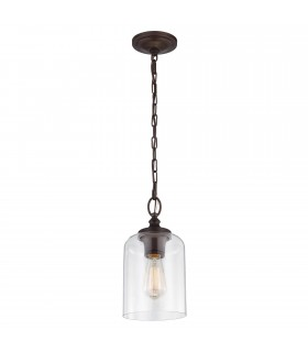 1 Light Ceiling Mini Pendant Bronze, E27