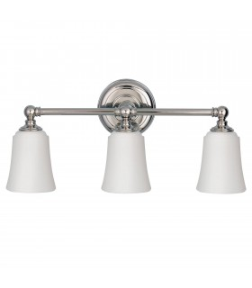 3 Light Bathroom Over Mirror Light Polished Chrome IP44