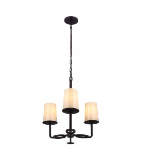 Multi Arm Chandelier 3 Light Bronze Finish, E27