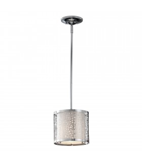 1 Light Ceiling Mini Pendant Chrome, E27
