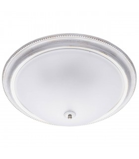 5 Light Flush Ceiling Light White, Gold with Glass Diffuser