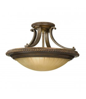 2 Light Ceiling Semi Flush Light Gold, Bronze